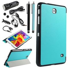 ULAK Slim Lightweight Stand Case for Samsung Galaxy Tab 4 8.0 Tablet SM-T330 with Auto Sleep Wake Function (Not fit tab 3 8.0 tablet) with Great Accessories Bundle (Light Blue) ULAK http://www.amazon.com/dp/B00MHH1Z5I/ref=cm_sw_r_pi_dp_1IZ4tb1059G2T