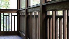 Craftsman Variation on Vertical Wood 2x2 Railing