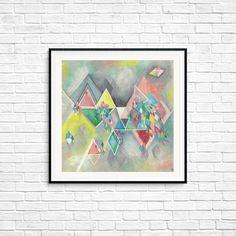 Triangle art, Abstract art, Urban, Modern style, Geometric art, Square, Fine art Print, Colorful Wall art, Room decor, Triangles, Rhombus Triangle Art, Colorful Wall Art, Geometric Art, All Print, Triangles, Fine Art Prints, Abstract Art, Room Decor, Urban