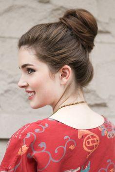 beautiful profile-girl-bun -updo