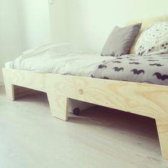 Bed handmade by @Hans Catshoek #plywood #underlayment #wood #studentsroom #home #interior