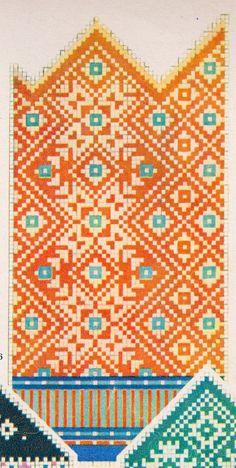 Kinda ja kampsunimustrid, ev100 nädalat Knit Mittens, Mitten Gloves, Motif Fair Isle, Fair Isle Knitting, Needlework, Bohemian Rug, Knitting Patterns, Knit Crochet, Weaving