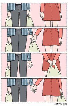 Historieta de amor plus size capris - Plus Size Love Cartoon Couple, Cute Couple Comics, Couples Comics, Cute Couple Art, Cute Comics, Anime Couples, Cute Couples, Sundae Kids, Funny Sayings
