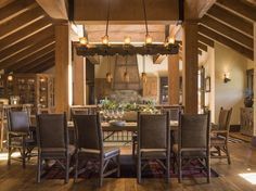 Justine Macfee Western Furniture, Rustic Furniture, Dining Area, Dining Rooms, Dining Chairs, My Dream Home, Dream Homes, Luxury Living, Luxury Real Estate