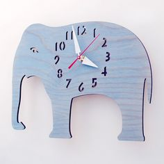 Wood Elephant Clock for Halle.  Def could DIY this with a little thought.