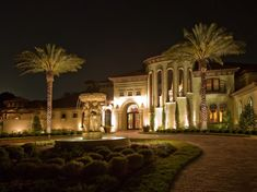 Landscape lighting can be the thing that takes your backyard from basic to bling, but achievement a lighting plan for your yard can be an intimidating project} Modern Landscaping, Outdoor Landscaping, Modern Landscape Lighting, Residential Lighting, Outdoor Lighting, Lighting Ideas, Exterior Design, Backyard, House Styles