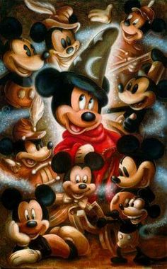 The changes of Mickey Mouse
