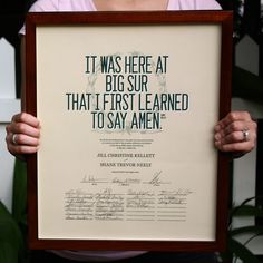 Orleans Paperie marriage certificate poster