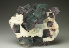 Classic intergrown octahedral Fluorite from China