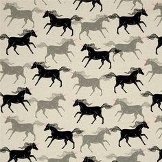 Cotton & Steel - Magic Forest - Unicorns (Noir)
