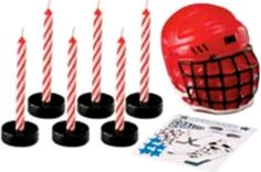 Hockey Party: Previous pinner Our Hockey Candle Set features one hockey mask, six puck candle holders and ten birthday candles along with a sheet of hockey themed decals. Hockey Birthday Cake, Hockey Birthday Parties, Hockey Party, Skate Party, Themed Birthday Cakes, Birthday Party Themes, Boy Birthday, Birthday Ideas, Hockey Cakes
