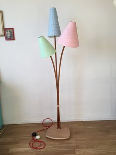 50 Year Floor Lamp Wood Vintage 50s Style Floor Lamp Lamp Rockabilly Retro  Kidney Shaped Table Flower Stool
