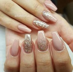 34 Quinceanera Nails Design Quinceaera Nails Nail Art Galerie - Famous Last Words Almond Acrylic Nails, Cute Acrylic Nails, Acrylic Nail Designs, Cute Nails, Pretty Nails, Nail Art Designs, Wedding Acrylic Nails, Gold Wedding Nails, Sparkle Acrylic Nails