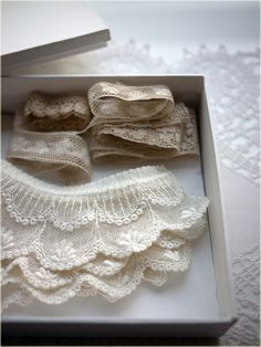 Collect & save vintage lace to add to your blouses, sweaters, pillows or scented satchels to personalize your style !