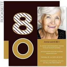 Einladung 80. Geburtstag Muster