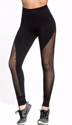 Turn heads and breeze through your workouts in style with these V-Cut Side Mesh Workout Leggings! Mesh Workout Leggings, Mesh Leggings, V Cuts, Casual Pants, Fit Women, Stockings, Skinny, Female, Fitness