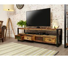 """Baumhaus Urban Chic Open Widescreen Television Cabinet (Up to 80"""")   Style Our Home"""