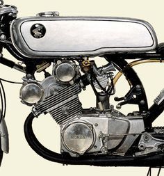 Japanese Motorcycle A2-sized Collectors' edition print - 1962 HONDA CR93 Benly Racing - Seevert Works online
