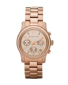 Rose Golden Runway Chronograph Watch by Michael Kors at Neiman Marcus.