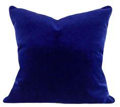 Royal Blue Velvet Decorative Pillow Cover - Throw Pillow - Both Sides - Blue Throw Pillows, Velvet Pillows, Toss Pillows, Accent Pillows, Blue Velvet Fabric, Blue Home Decor, Decorative Pillow Covers, Royal Blue, Indigo