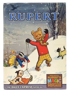 Rupert Annual, including Rupert's Magic Painting Pictures, United Kingdom, written and illustrated by Alfred Bestall, published by The Daily Express. 1970s Childhood, My Childhood Memories, Vintage Children, My Children, Pictures To Paint, Painting Pictures, Vintage Books, Vintage Photos, My Memory