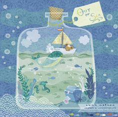 Lynn Gaines Design and Illustration Art Wall Kids, Art For Kids, Meer Illustration, Deco Marine, Underwater Art, Jar Art, Doodles, Painting Inspiration, Art Drawings