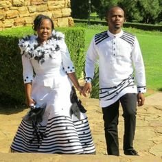 Simple Xhosa bride n groom