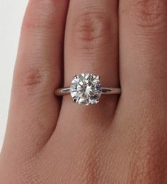 Certified Classic Four Prong Solitaire 1.25Ct. Diamond Engagement Ring