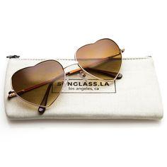 Heart Sunglasses + Soft Case #sunglasses #sunglass #frame #bold #cateye #mirrored #sunglassla #purple #oversized #clear