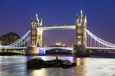 Tower Bridge - over the River Thames in London, England (Europe)