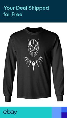 4839f36242b Black Panther Movie Wakanda Marvel Mens   Youth Long Sleeve T-Shirt