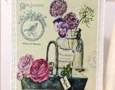 Great Big Canvas 'Bouquet Naturel IV' by Stefania Ferri Graphic Art Print Size: H x W x D, Format: White Framed Framed Artwork, Wall Art Prints, Fine Art Prints, Art Floral, Diy Image, Etiquette Vintage, Foto Transfer, Cartoon Flowers, Vintage Scrapbook