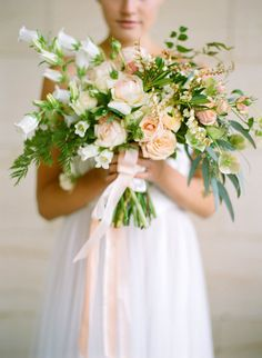 59 Super Ideas For Wedding Bouquets Spring Bridal Musings Peach Bouquet, Pastel Bouquet, Bridesmaid Bouquet, Boutonnieres, Cute Wedding Ideas, Wedding Inspiration, Corsage, Spring Wedding Bouquets, Ethereal Wedding