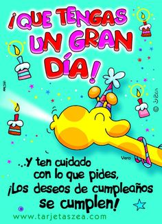 Tarjetas De Cumpleanos Para Facebook | Vera© ZEA www.tarjetaszea.com Happy Anniversary Quotes, Happy Birthday Quotes, Happy Birthday Images, Birthday Messages, Birthday Pictures, Happy Birthday Wishes, Birthday Wishes For Daughter, Man Birthday, Happy Birthday In Spanish