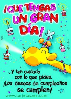 Tarjetas De Cumpleanos Para Facebook | Vera© ZEA www.tarjetaszea.com