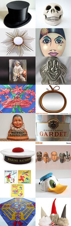 CARNIVAL CELEBRATIONS by Alia on Etsy--Pinned with TreasuryPin.com #carnival #carnaval #mardigras #inspiration #latelierdenanah #vintagefr #frenchvintage #retro #antiquefinds