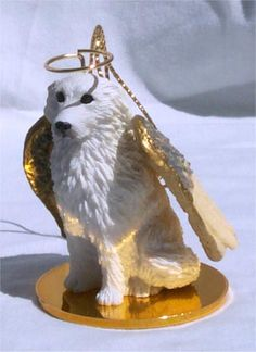 GREAT PYRENEES Dog ANGEL MINIATURE Christmas Ornament new DTA75  $9.49    http://eyedealfigurines.com/great-pyrenees-dog-angel-miniature-christmas-ornament-new-dta75-p-7582.html
