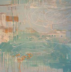 "Thomasa Seymour ""Blue Sky Sweep"" 36x36 on wood panel - Gregg Irby Gallery"