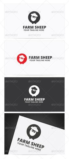 Farm Sheep Logo — Photoshop PSD #design #kids • Available here → https://graphicriver.net/item/farm-sheep-logo/8758749?ref=pxcr