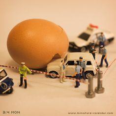 Traffic accident|負傷者は無し、卵が半壊しました。-2013.2.4