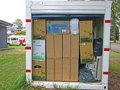 PODS storage container for Rosies Friends on the Street Secure Storage, Self Storage, Locker Storage, Storage Solutions, Storage Ideas, Pods Moving, Packing Supplies, Moving And Storage, Big Houses