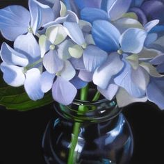 Little Hydrangea 4x4, painting by artist M Collier