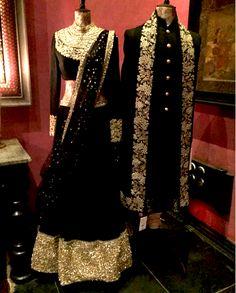Black and Golden Bridal Lehnga by Sabyasachi.