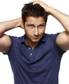 You know how girls are in love with Johnny Depp no matter how old he gets? Well that's Gerard Butler for me..