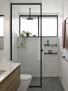 Bathroom Design Small, Bathroom Interior Design, Modern Bathroom, Industrial Bathroom Design, Downstairs Bathroom, Bath Remodel, Bathroom Inspiration, House Design, Home