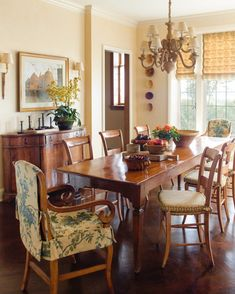 Capitol Hill Tudor Breakfast Room Kitchen Dining Breakfast Room American TraditionalNeoclassical French Provincial by Kylee Shintaffer Kitchen Dining, Dining Table, Room Kitchen, Dining Rooms, Yellow Home Decor, Interior Decorating, Interior Design, Dining Room Inspiration, Dining Room Design