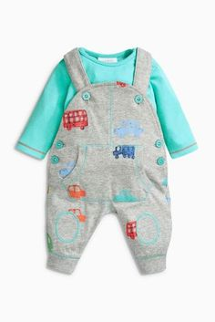 Buy Multi Printed Dungarees And Bodysuit Set (0mths-2yrs) online today at Next: United States of America