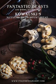 Jacob Kowalski's Niffler and Erumpent Bread recipe from the movie, Fantastic Beasts and Where to Find Them.