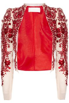 Embellished silk-organza jacket