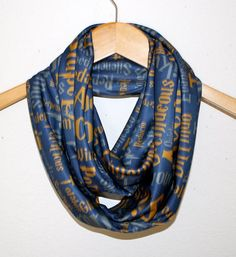 Harry Potter, Ravenclaw HouseCircle Scarf. Perfect way to show your love of Harry Potter. Blues, teals and browns.